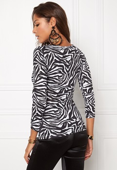 Chiara Forthi Mathea Zebra Top Black/White Bubbleroom.se