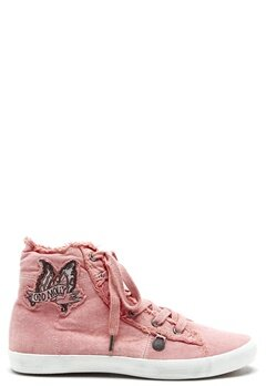 Odd Molly Butterfly high sneakers Milky pink Bubbleroom.se
