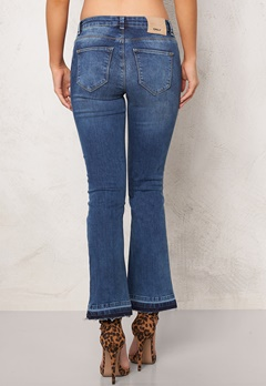 ONLY Nadia Cropped Flare Jeans Medium Blue Denim Bubbleroom.se