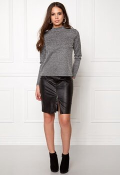 Jacqueline de Yong Teller l/s sweat Dark grey melange Bubbleroom.se
