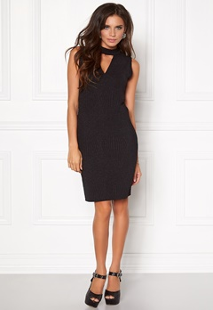 VILA Tana s/l dress Black Bubbleroom.fi