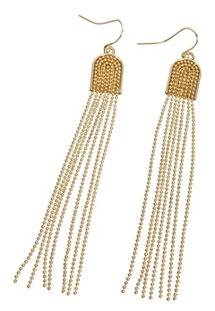 Pieces Denize earrings Gold Colour Bubbleroom.se