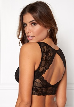 Pieces Delso padded lace bra Black Bubbleroom.se