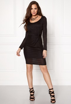 ONLY Ramona L/S Knot Dress Black 2 Bubbleroom.se