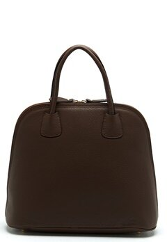 Mixed from Italy Top Handle Leather Bag Dark Brown Bubbleroom.se