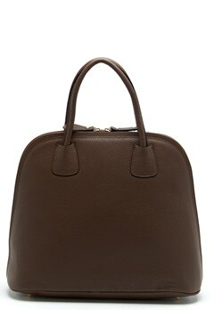 Mixed from Italy Top Handle Leather Bag Dark Beige/Taupe Bubbleroom.fi