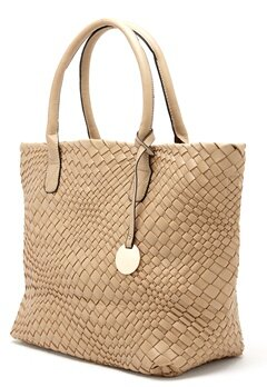 Mixed from Italy Top Handle Satchel Dark Beige/Taupe Bubbleroom.se