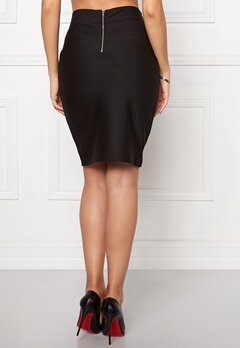 VILA Anns Skirt Black Bubbleroom.se
