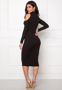 Club L High Neck Cut out Dress Black Bubbleroom.se