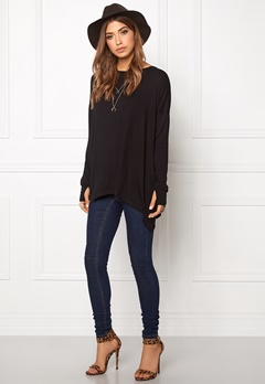 VILA Dere Thumb Hole l/s Top Black Bubbleroom.se