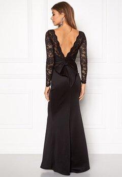 Goddiva Open Back Lace Dress Black Bubbleroom.se