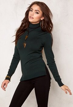 77thFLEA Evora knitted polo Dark green Bubbleroom.se