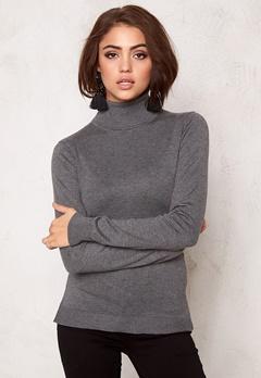 77thFLEA Evora knitted polo Grey melange Bubbleroom.se