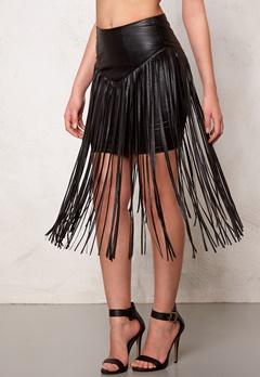77thFLEA Frankie fringe skirt Black Bubbleroom.se