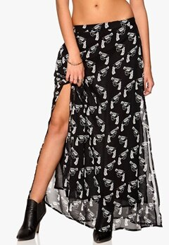 77thFLEA Hanover maxi skirt Black/White/Print Bubbleroom.se