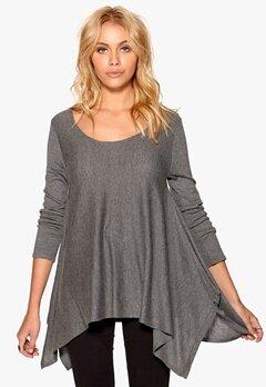 77thFLEA Luoyang knitted sweater Dark grey melange Bubbleroom.se