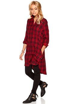 77thFLEA Tokyo checked shirt Red/Black/Checked Bubbleroom.se
