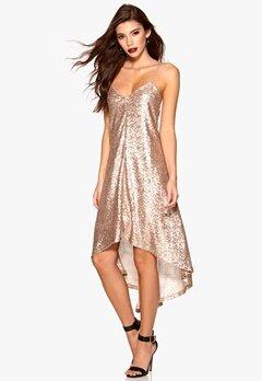 77thFLEA Sydney sequins dress Rose gold Bubbleroom.se