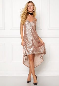 77thFLEA Sydney sequins dress Rose gold Bubbleroom.se