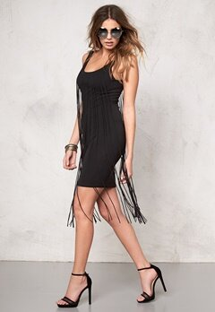 77thFLEA Tangier fringe dress Black Bubbleroom.se