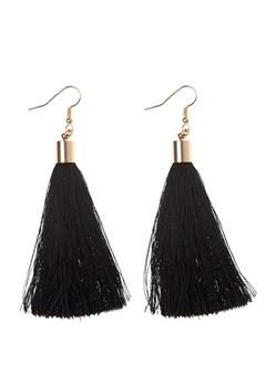 77thFLEA Tassels earrings Gold/Black Bubbleroom.se
