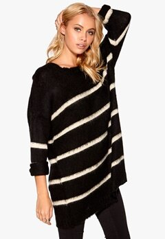 77thFLEA Tongling sweater Striped black/white Bubbleroom.se