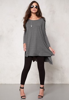 77thFLEA Wellington tunic Light grey melange Bubbleroom.se