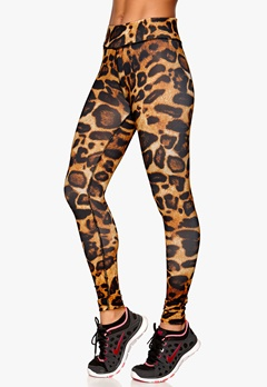 b:motion Lydia printed train tights Leopard printed Bubbleroom.se