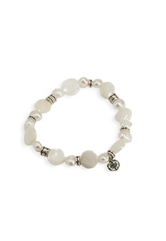 Pearls for Girls Armband Vit/Silver Bubbleroom.se