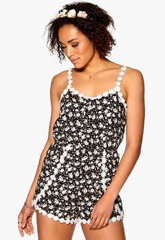 Mixed from Italy Playsuit Black Bubbleroom.se