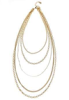 Pieces Elopa Necklace Gold Colour Bubbleroom.se