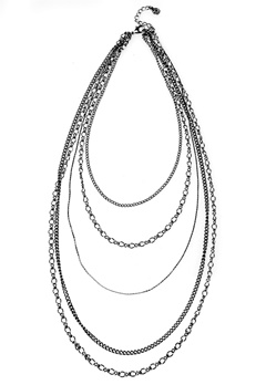 Pieces Elopa Necklace Gunmetal Bubbleroom.se
