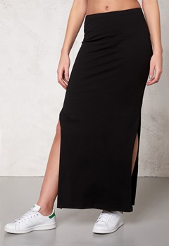 ONLY Abbie l slit skirt noos Black Bubbleroom.se