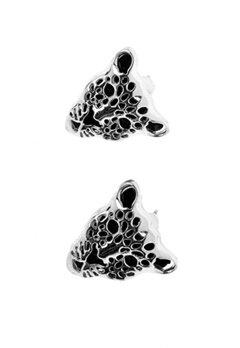 La Femme Confiante A.C Leopard Earrings Copper Bubbleroom.se