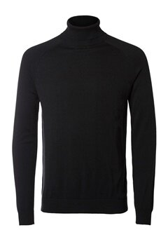 SELECTED HOMME Adam Roll Neck Black Bubbleroom.fi
