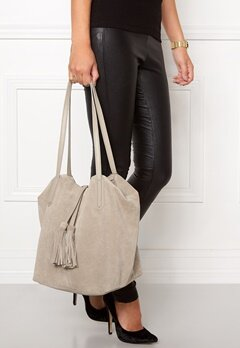 Pieces Afo Suede Bag Nature Bubbleroom.se