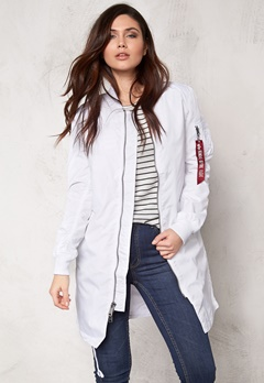Alpha Industries MA-1 TT coat White Bubbleroom.se
