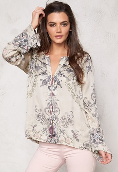 Odd Molly Another day laceup blouse Golden Porcelain Bubbleroom.se