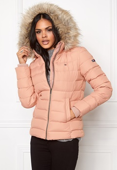 TOMMY HILFIGER DENIM Basic Down Jacket 648 Mahogany Rose Bubbleroom.se