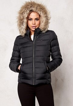 TOMMY HILFIGER DENIM Basic Down Jacket 078 Tommy Black Bubbleroom.se