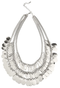 Pieces Basilla Necklace Silver Colour Bubbleroom.se