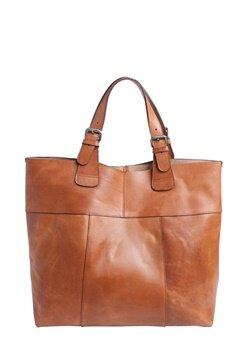 Pieces Baysa Leather Bag Cognac Bubbleroom.se