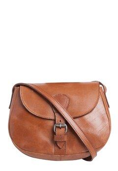 Pieces Baysa Leather Cross Bag Cognac Bubbleroom.se