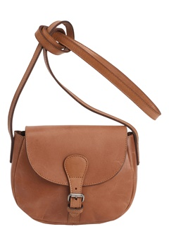 Pieces Baysa Leather Cross Bag Cognac Bubbleroom.se
