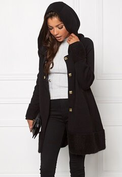 Chiara Forthi Bell Knit Coat Black/Gold Bubbleroom.se