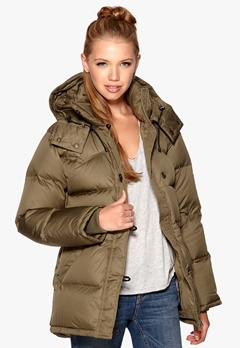 Boomerang Alexandra down jacket 613 Mud Green Bubbleroom.se