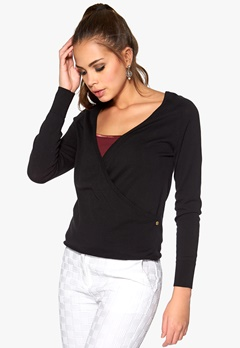 Boomerang Marhult Wrap Sweater 099 Black Bubbleroom.se