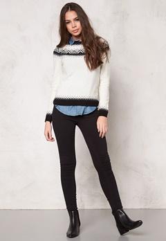 Boomerang Ockelbo Jaquard Sweater 002 Pannacotta Bubbleroom.se