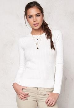 Boomerang Poppa Cable Sweater 001 Offwhite Bubbleroom.se