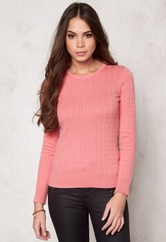 Boomerang Poppa Cable Sweater 911 Peach Bubbleroom.se